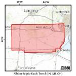 Albion-Scipio Fault Trend (IN, MI, OH)